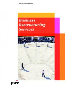 Business Restructuring Services - PwC Luxembourg