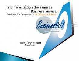 Business901 - Be Different or Be Dead