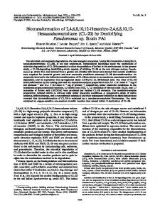 by Denitrifying Pseudomonas sp. Strain - Applied and Environmental ...