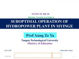 By Dr. Aung Ze Ya Associate Professor Mandalay ... - NARBO