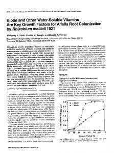 by Rhizobium meliloti 1021 - American Phytopathological Society
