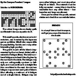 By the Campus Puzzlers' League Solution to NONOGRAM: The ...