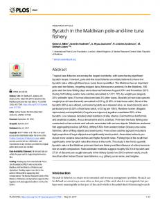 Bycatch in the Maldivian pole-and-line tuna fishery - PLOS
