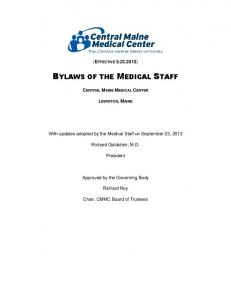BYLAWS OF THE MEDICAL STAFF