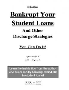 BYSL 3rd Edition Intro/Chapter 1 - Bankrupt Your Student Loans