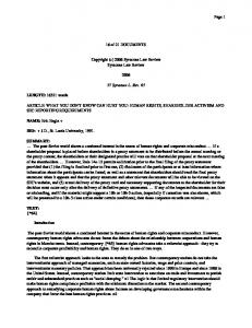 (c) 2006 Syracuse Law Review Syracuse Law Review ... - SSRN papers