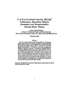 C ⊗ H ⊗ O-valued Gravity, [SU(4)] Unification, Hermitian Matrix ... - viXra