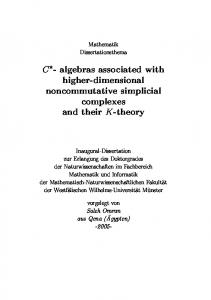 C - algebras associated with higher-dimensional noncommutative ...