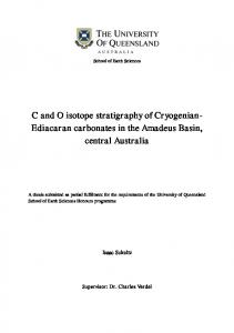 C and O isotope stratigraphy of Cryogenian- Ediacaran carbonates in ...
