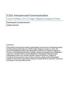 C122: Interpersonal Communication