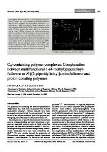 C60-containing polymer complexes
