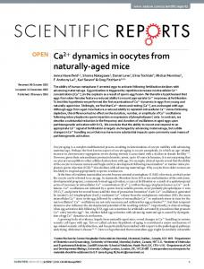 Ca2+ dynamics in oocytes from naturally-aged mice - ORCA - Cardiff