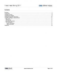 Cabinet Vision Tech Document Template