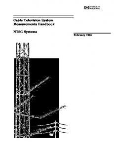 Cable Television System Measurements Handbook NTSC Systems
