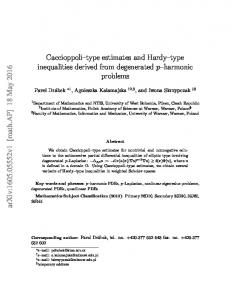 Caccioppoli--type estimates and Hardy--type inequalities derived from ...