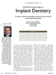 CAD/CAM guided surgery in implant dentistry; a review of software ...