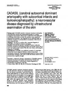 CADASIL (cerebral autosomal dominant ... - Wiley Online Library