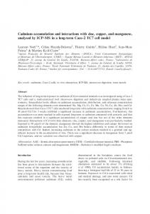 Cadmium accumulation and interactions with zinc, copper ... - OATAO