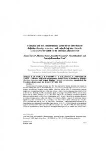 Cadmium and lead concentrations in the tissues of bottlenose dolphins