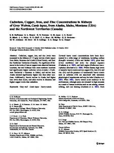 Cadmium, Copper, Iron, and Zinc Concentrations in Kidneys of Grey ...