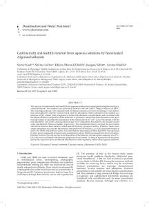 Cadmium(II) and lead(II) removal from aqueous ...