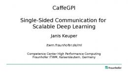 CaffeGPI Single-Sided Communication for Scalable Deep Learning