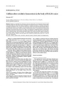 Caffeine alters oxidative homeostasis in the body
