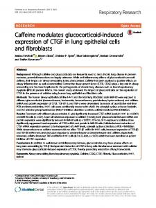 Caffeine modulates glucocorticoid-induced expression ... - Springer Link