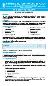 CAIIB-Elective Papers - Indian Institute of Banking & Finance