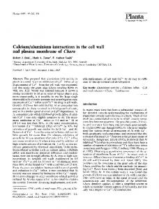 Calcium/aluminium interactions in the cell wall and ... - Springer Link
