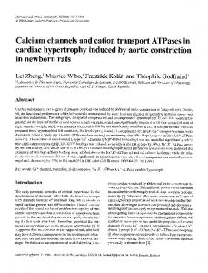 Calcium channels and cation transport ATPases in ... - Springer Link