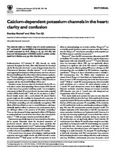 Calcium-dependent potassium channels in the heart: clarity and ...