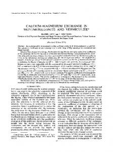 calcium-magnesium exchange in montmorillonite and vermiculite