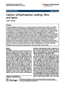 Calcium orthophosphate coatings, films and layers