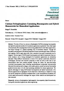 Calcium Orthophosphate-Containing Biocomposites and ... - MDPI
