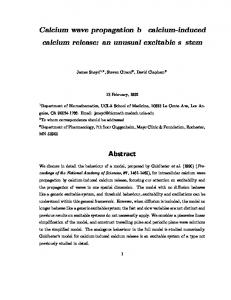 Calcium wave propagation by calcium-induced calcium release: an ...
