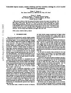 Calculable lepton masses, seesaw relations and four neutrino mixings ...