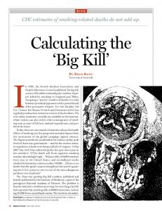 Calculating the 'Big Kill' - SSRN papers