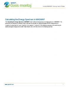 Calculating the Energy Spectrum in MAGMAP