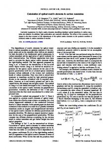 Calculation of optical matrix elements in carbon ... - APS Link Manager
