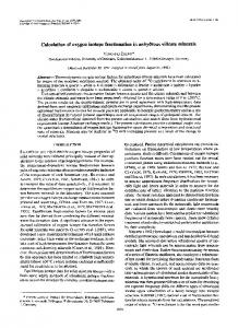 Calculation of oxygen isotope fractionation in ...