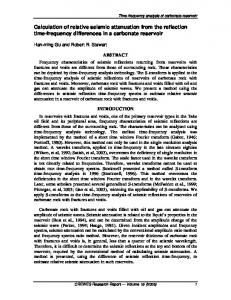 Calculation of relative seismic attenuation from the reflection ... - crewes