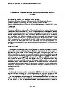 Calculations of Atomic and Electronic Structure for