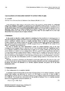 CALCULATIONS OF DOSE ENHANCE~NT IN ... - ScienceDirect