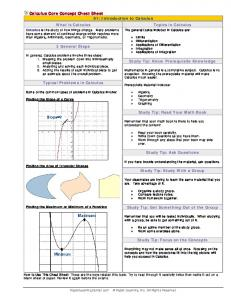 Calculus Core Concept Cheat Sheet 01: Introduction to Calculus ...