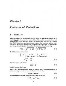 Calculus of Variations - UCSD Department of Physics