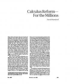 Calculus Reform--For the Millions