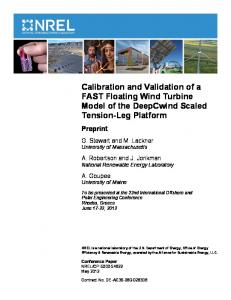 Calibration and Validation of a FAST Floating Wind Turbine ... - NREL