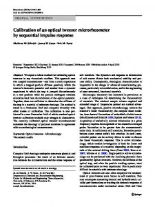 Calibration of an optical tweezer microrheometer by ... - Springer Link
