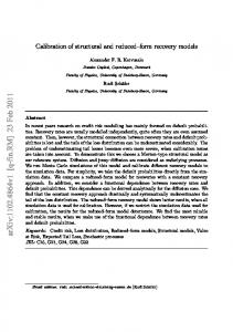 Calibration of structural and reduced-form recovery models